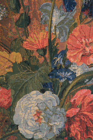 Summer Flowers Belgian Tapestry Wall Hanging
