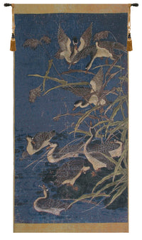 Panel with Ducks Belgian Tapestry Wall Hanging