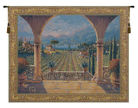 Lakeside Vineyard Belgian Tapestry Wall Hanging