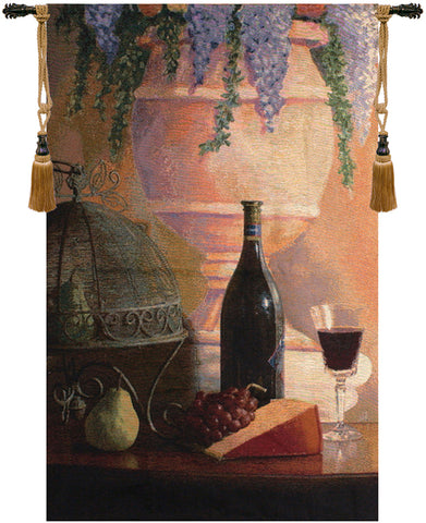 An Elegant Afternoon Gathering Fine Art Tapestry