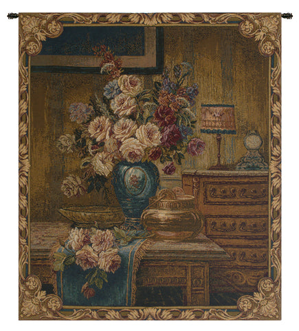 Floral Setting Italian Tapestry Wall Hanging