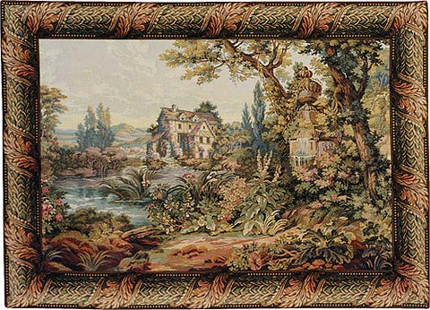 The Old Mill Italian Tapestry