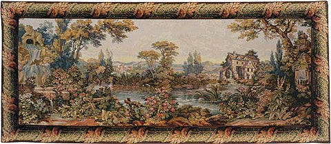 Mill by the Lake Italian Tapestry