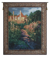 Garden Walk at Sunset Tapestry Wall Hanging
