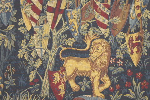 Lion et Licorne Heraldiques French Tapestry Wall Hanging