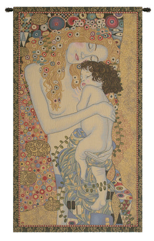Ages of Women by Klimt Italian Tapestry Wall Hanging