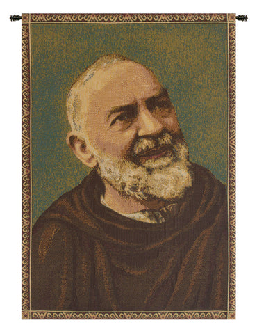 Padre Pio Father Pio Italian Tapestry Wall Hanging