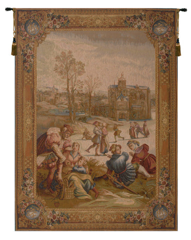 Les Patineurs French Tapestry