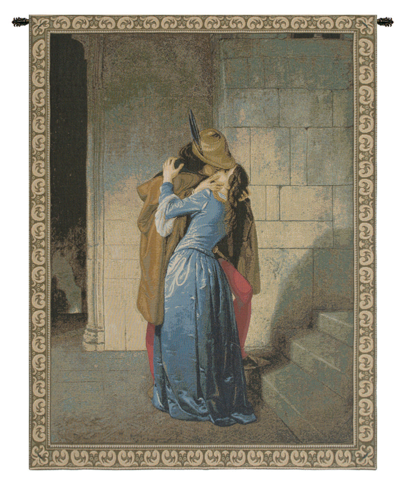 The Kiss Italian Tapestry Wall Hanging