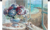 Coastal Hydrangeas Fine Art Tapestry