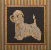 White Terrier European Cushion Cover