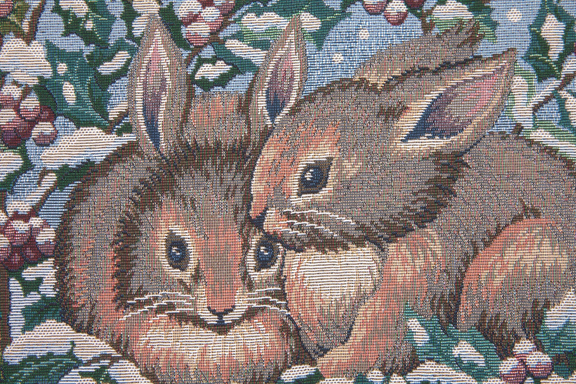Holiday Bunnies Italian Tapestry Wall Hanging