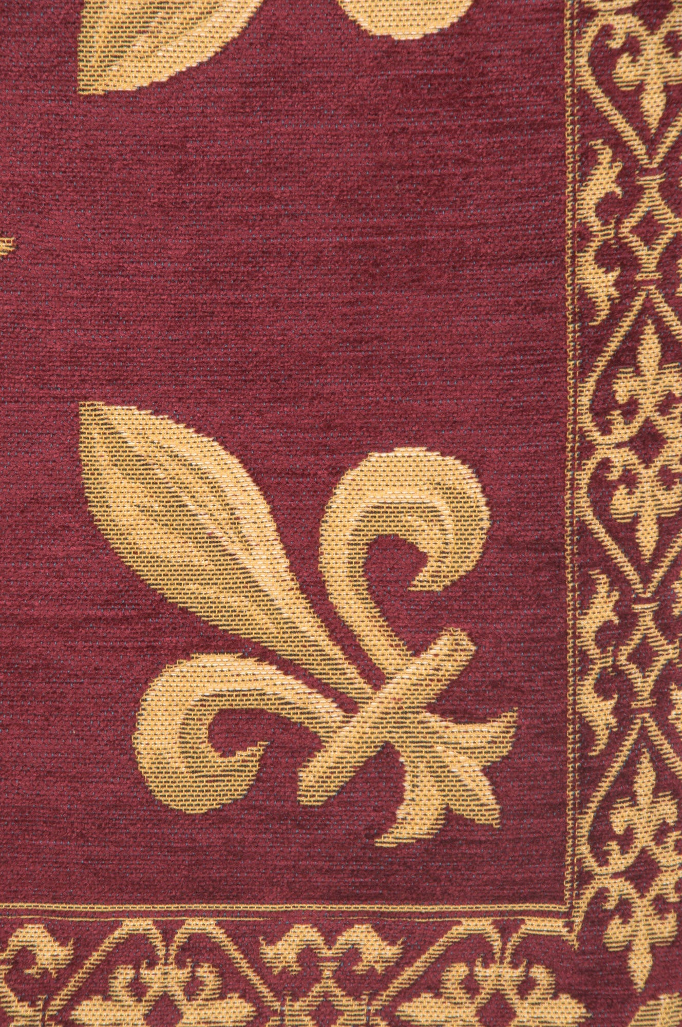 Fleur de Lys Red II European Cushion Cover