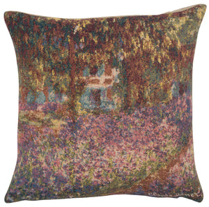 Monets Iris Garden European Cushion Cover