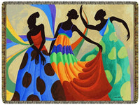 Dancers In Black Skin  Tapestry Throw