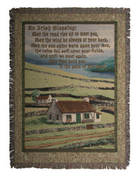 Irish Blessing II  Tapestry Throw