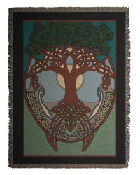 Celtic Tree  Tapestry Throw