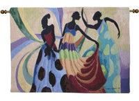 Dancers in Black Skin II Tapestry Wall Hanging