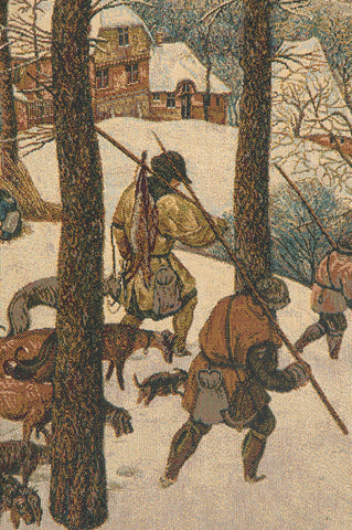 Hunting in the Snow Italian Tapestry Wall Hanging