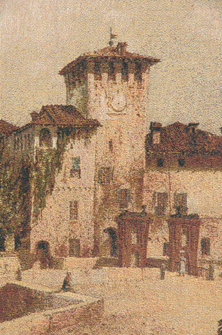 Castle of Parma Italian Tapestry Wall Hanging