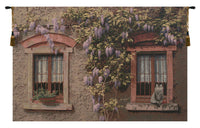 Windows with Wisteria Italian Tapestry Wall Hanging