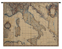 Ancient map of Italy Italian Tapestry Wall Hanging