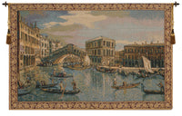 The Rialto Bridge Grand Canal Small Italian Tapestry Wall Hanging