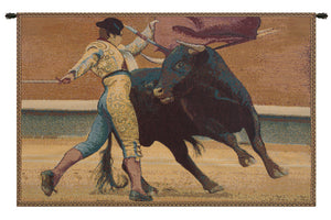 Bullfighter Torero Italian Tapestry Wall Hanging