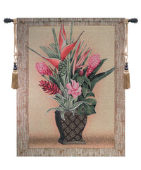 Tropical Garden Fine Art Tapestry