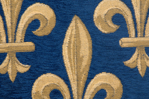 Fleur de Lys Blue II European Cushion Cover