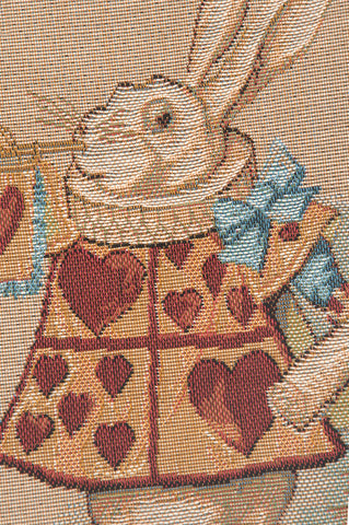 Heart Rabbit Alice In Wonderland I French Tapestry Cushion