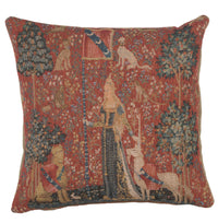 The Touch I Small French Tapestry Cushion