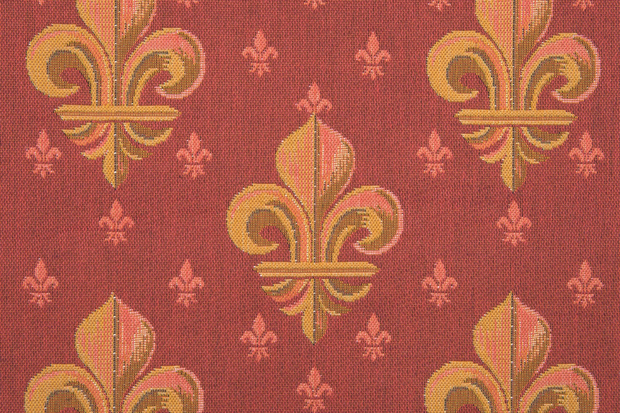 Lys flower In Red 1 French Tapestry Cushion