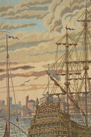 The Galleon I Italian Tapestry Wall Hanging
