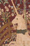 Licorne Captive In Red 1 French Tapestry Cushion