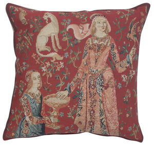 Licorne Gout Belgian Tapestry Cushion