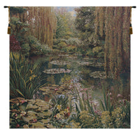 Monet's Garden without Border I Belgian Tapestry Wall Hanging