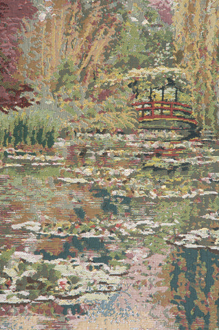 Monet's Garden without Border III Belgian Tapestry Wall Hanging