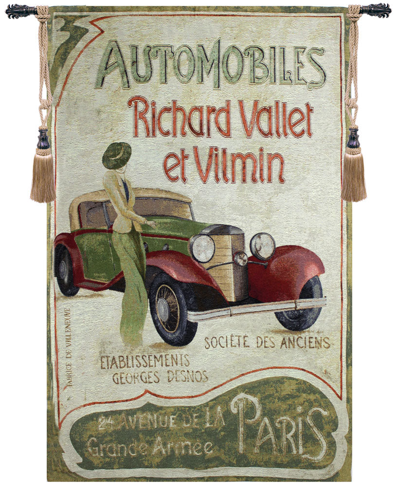 Automobile Club Fine Art Tapestry