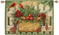 Happy Holiday Fine Art Tapestry