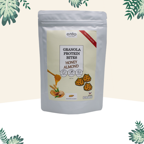 ento Granola Protein Bites 100g - Honey Almond