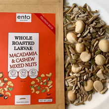 Load image into Gallery viewer, ento Whole Roasted Larvae, Macadamia & Cashew Mixed Nuts 100g