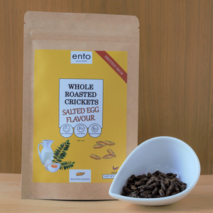 ento Salted Egg Yolk Roasted Crickets 25g