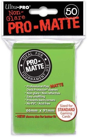 ProMatte  Standard Sleeves - LIME GREEN