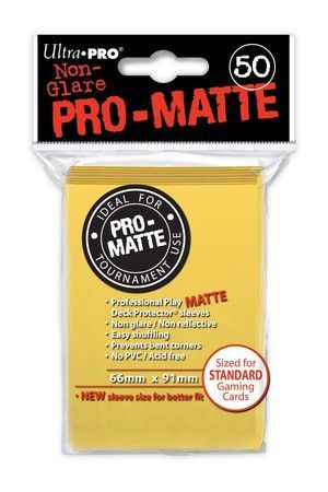 ProMatte  Standard Sleeves - YELLOW
