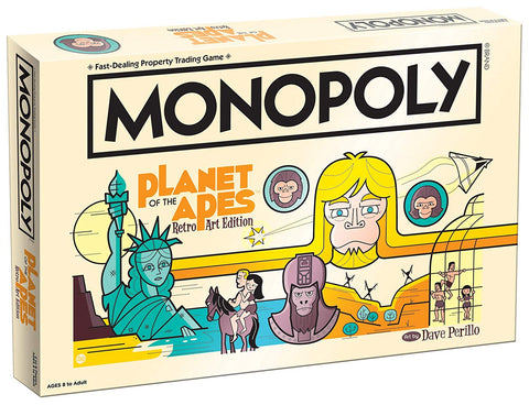 Planet of the Apes Monopoly Retro Art Edition
