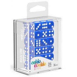 D6 Dice 12 mm Solid - Blue (36)