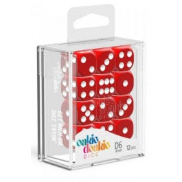 D6 Dice 16 mm Solid - Red (12)