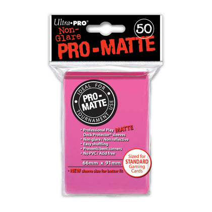 ProMatte  Standard Sleeves - BRIGHT PINK