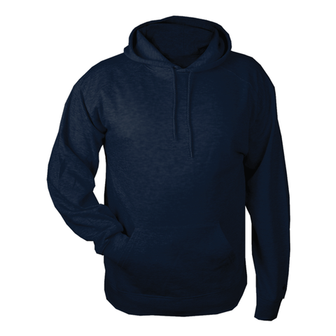 Badger Hooded Navy Fleece
